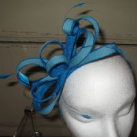 Small Turquoise Fascinator on Headband (SN808)
